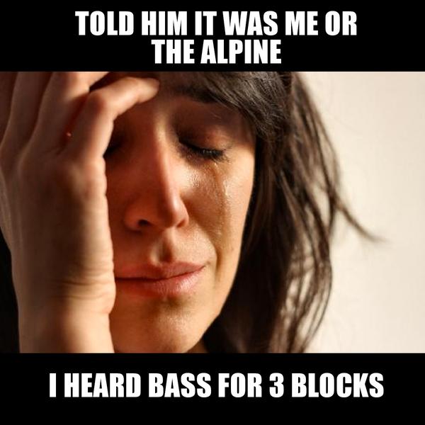 Retweet if this made you laugh! #meme #caraudio #12volt #lol #bass #alpineusa http://t.co/lMnmtVf2mi