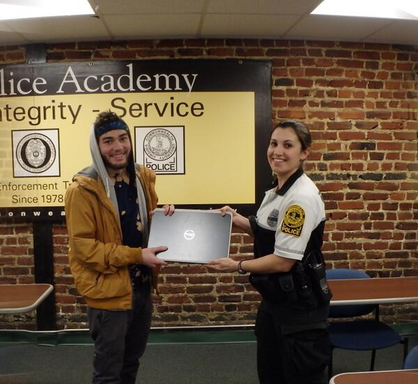 VCUPD & @AbsoluteLoJack teamed up to locate & return Conner Joyce's stolen laptop. Is your PC registered w/VCUPD? http://t.co/IyRqC10RVJ