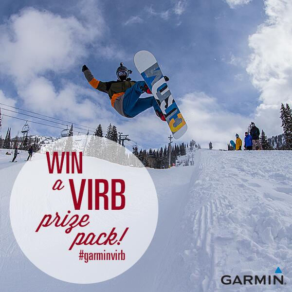 WIN a #GarminVIRB prize pack! For a chance to win the VIRB prize pack FOLLOW our page and RETWEET this post to enter. http://t.co/1HTShLrXRf
