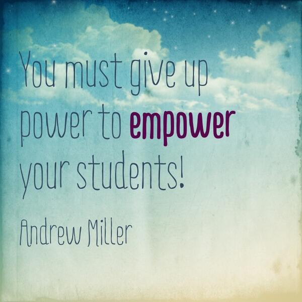 A5: Pitfall: Micromanaging Students! Get out of their way! Must give up power to empower your students #edtechchat http://t.co/hnl2EaOcOG