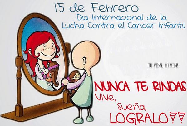 Hoy es 15 de Febrero #DíaMundialContraElCáncerInfantil ¡Buenos días! http://t.co/83UIA1Uj5x