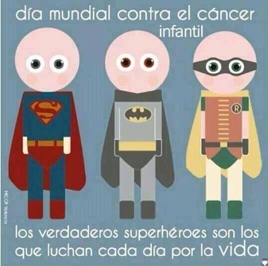 No sólo en las películas encontramos a los verdaderos héroes.   #DiaMundialContraElCancerInfantil http://t.co/m1zF0DAWcN