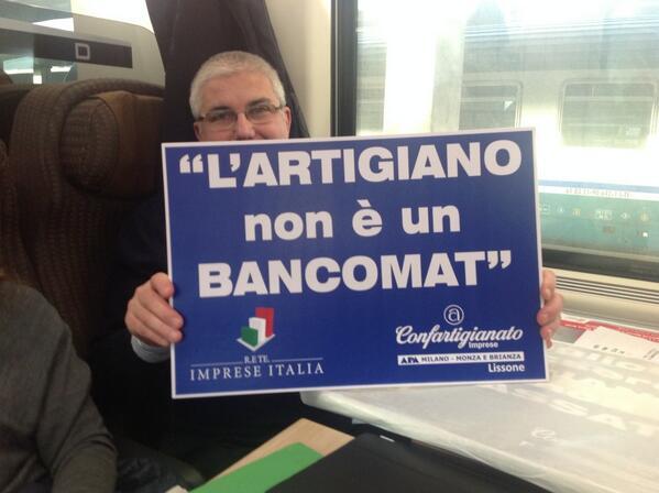 gli artigiani lombardi in treno per Roma http://t.co/bOcNlxZ0cP