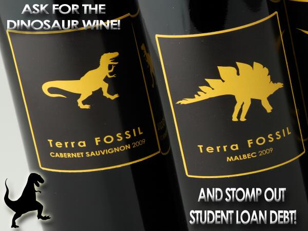 Stomp it out! #terrafossil #stompoutstudentloans #buydinowine http://t.co/iUpVSNJeAk