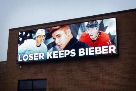 USA v Canada in ice hockey today. Loser takes Bieber. The stakes could not be higher. #Sochi2014 #Olympics2014 http://t.co/6uNv5oV5dm