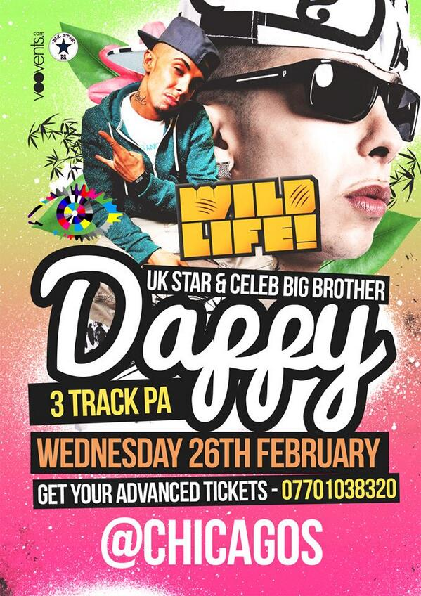 Catch me on the decks supporting @TheDappy !!! 26th February at Chicagos, Essex.  #Itsthedjdj #DjTroopa http://t.co/T65V9wDz5u