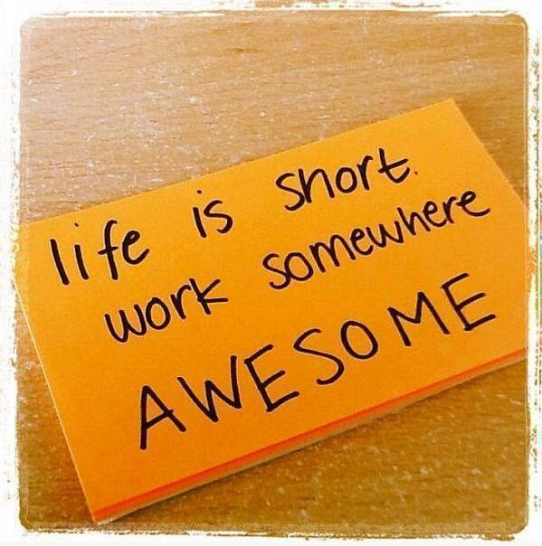 Excellent piece of career advice. Not as easy to do as the sticky note makes out but definitely worth following. http://t.co/Z0kgQ17R1q