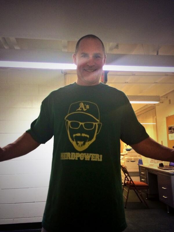 Bench coach Chip Hale supporting #EricSogard today. #FaceofMLB http://t.co/wC7sHcbE5y