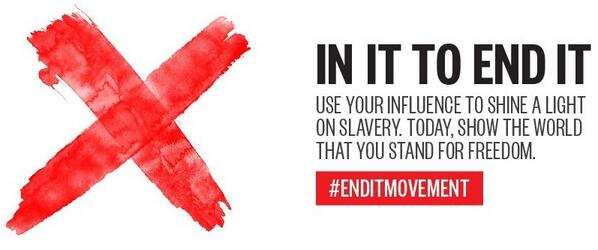 Today is Shine A Light On Slavery Day. Not for Sale is IN IT TO END IT #enditmovement http://t.co/xpBfdjQ7S3 http://t.co/QPXObuGkon