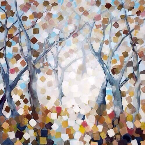 "'Winter Trees; The Beginning is Also the End' 36""x36"" oil on canvas #art http://t.co/QcfBx3WAX8 #painting ."
