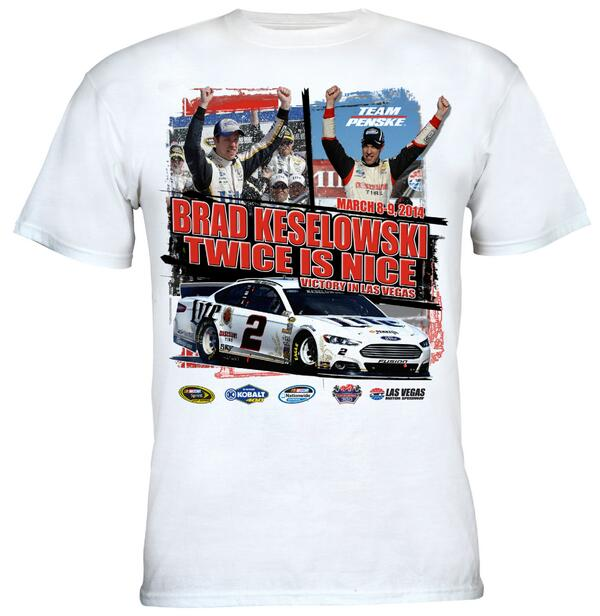 Twice Is Nice, isn't it @keselowski! Get your Las Vegas Race Winner's Gear Today! http://t.co/s7tF1KJHZd #NASCAR http://t.co/bxAqUKeJHb