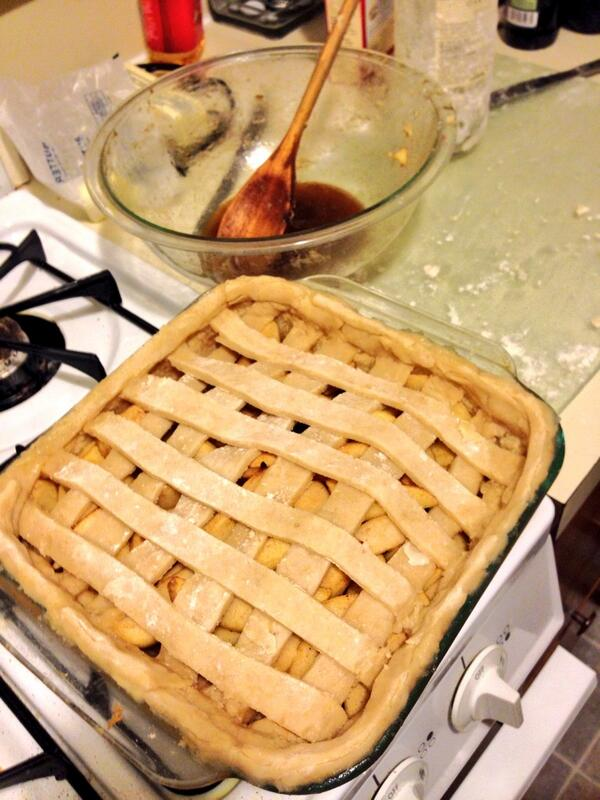 Drunken Apple Pie! My own recipe. Whiskey soaked apples with a splash ...