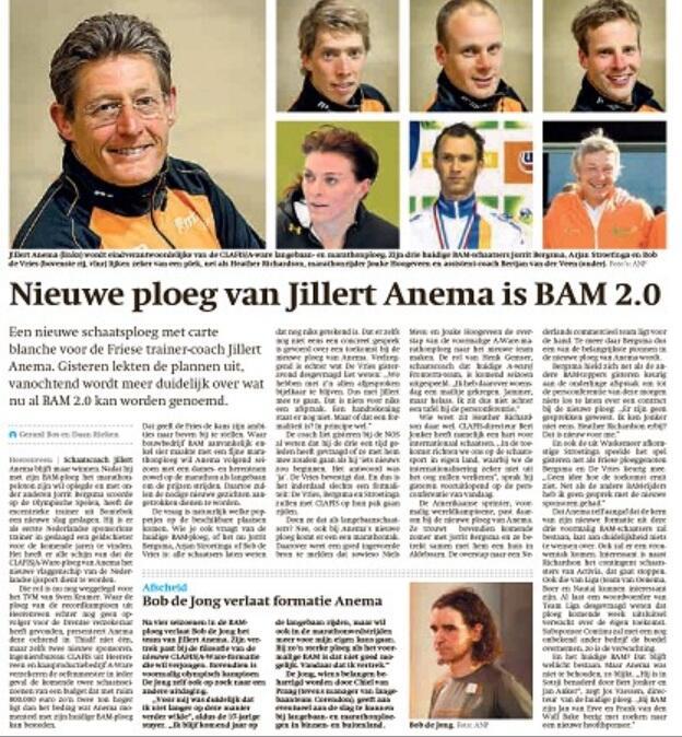 Dit wordt de nieuwe ploeg van Jillert Anema: BAM 2.0 -> verhaal @DaanRieken @GerardBos vandaag in FD #schaatsen #lees http://t.co/8dBACUB9ev