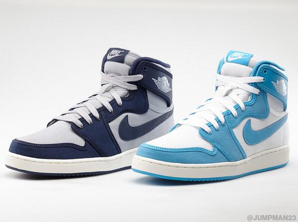 With a nod to MJ's game winning shot in 1982, these AJ1 KO colorways drop in a Rivalry Pack this Saturday. http://t.co/9slvGsgOzB
