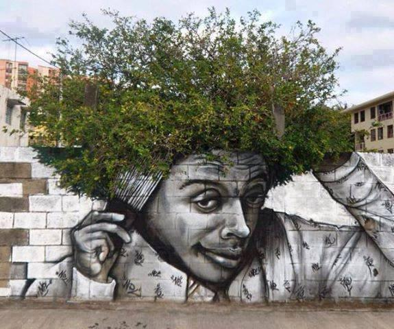 When Street Art Meet Nature! http://t.co/A3HLPhBUTI