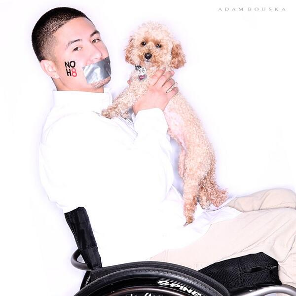 Retweet if you support the @NOH8Campaign! Huge thanks to @bouska and @PauleyP for allowing me & Love to promote #NOH8 http://t.co/cHCjVOswcs