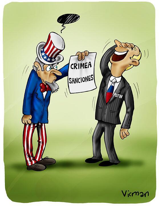 """La caricatura de Vicman """"el tigre de papel y sus sanciones"""" @BasemTajeldine @GobAlexisR @PrensaMeridaOCI http://t.co/dSzUDulXSu"""
