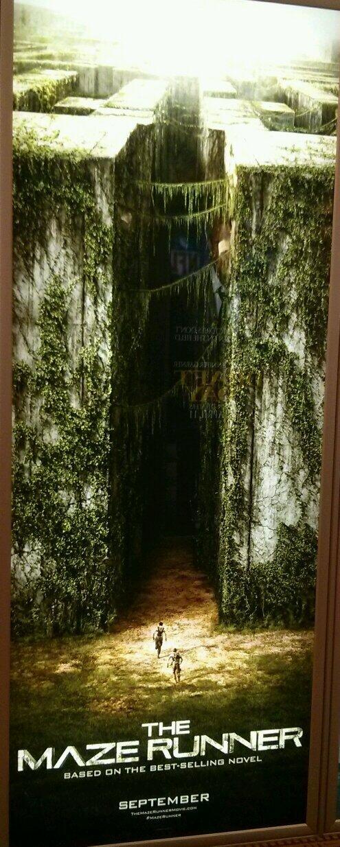 Desde #cinemacon, un enorme cartel de The Maze Runner. ¿Quién ya leyó el libro? http://t.co/OH4XLMbvQ7