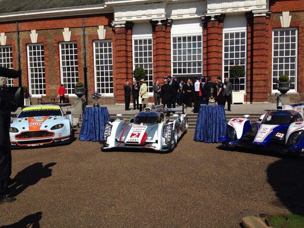 @AMR_Official @Audi__Sport @Toyota_Hybrid at Kensington Palace for launch of #FIAWEC. Race 1 @SilverstoneUK 20 April http://t.co/qXrPhVO46A