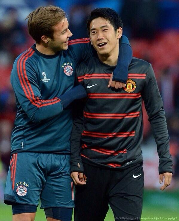 Old mates... Kagawa & Gotze! http://t.co/1BBPFXscdt