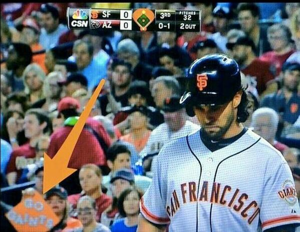 """This is funny idc who u are lol @MLBMeme: Some #SFGiants fans aren't too bright  #Gaints http://t.co/14eNEsddn0"""