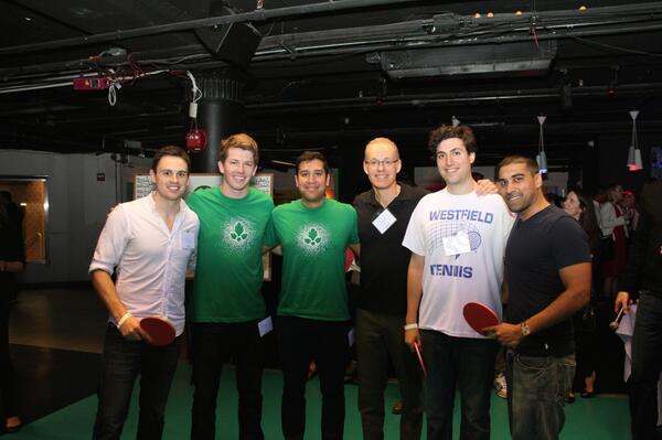 winners of #springpong @kevinryan,@Eisenberg & Venk Varadan w/ runners up @GuyHorrocks, @sachinkamdar, and Lucas Via http://t.co/gb56KwXplV