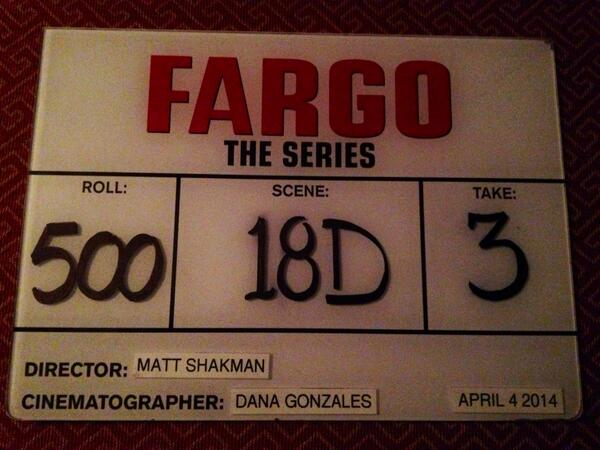 That is a season wrap on #Fargo   A truly amazing experience that I will cherish foreverThank you Calgary. last slate http://t.co/MffA0ZJOHN
