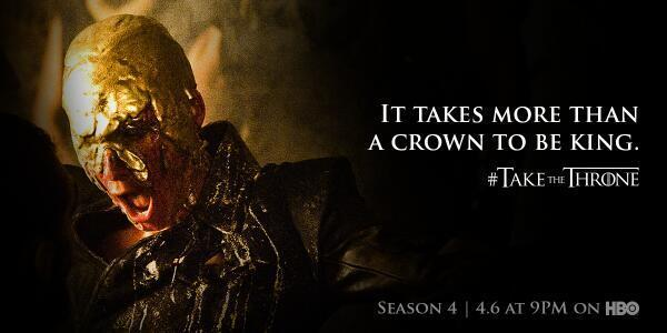 Who's beyond excited to #TaketheThrone tonight?! @hbowatch #GoTSeason4  @GameofThrones http://t.co/aZPgw6l5cv