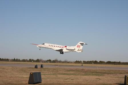 First flight of the Learjet 85 at ICT. http://t.co/VRzsFDPAQo