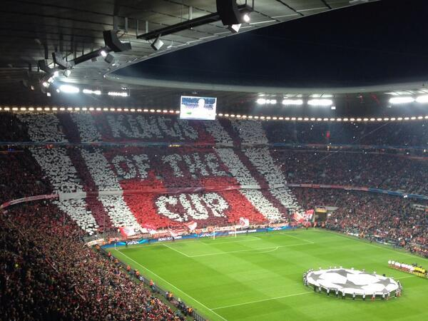 BkzRCmHCIAAMEb8 Bayern Munich & Atletico Madrid fans put on amazing displays before their CL matches [Pictures]
