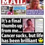 Todays front page is dedicated to the inspirational Stephen Sutton. read the story here - http://t.co/Ug7CwuKQbe http://t.co/8fw8evRqUr