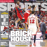 The @suntimes_sports cover, featuring the night the Madhouse became the BRICK HOUSE for the #Bulls. http://t.co/Qy1N4v855J