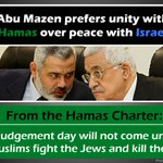 Please RT this important message: Abu Mazen prefers unity with Hamas over peace with Israel http://t.co/YPiJofw4No