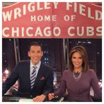 Anchor Team of the Century Wishing Wrigley Field a Happy Birthday! @nbcstefholt @DaniellaGuzman #cubs #tvmakeup http://t.co/WUusswvMcf