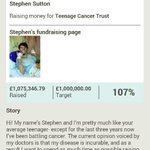 HE DID IT!! ONE MILLION POUNDS!! YEEEESSSSS!!!!! @_StephensStory there you go kid, YOU DID IT!! http://t.co/tvhzPvxsBV
