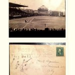 RT @BrianGarza1: A postcard dated 5/13/14 showing the recently opened Weeghman Park. #WrigleyField100 http://t.co/DeGF4gK6I5