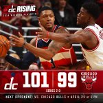 ICYMI Wizards win Game 2 of #WizBulls Recap: http://t.co/AAQZ3d341h All postgame: http://t.co/wOrNP77933 #dcRising http://t.co/YgjQuCDtA5