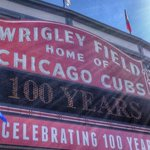 RT @MLB: Happy 100th birthday, Wrigley Field. http://t.co/mKlXmqvNjB