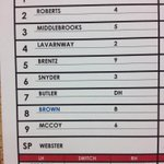 Will Middlebrooks is back in the PawSox lineup and batting 3rd. Game time at 6:15 tonight! http://t.co/2bVEocVNIl