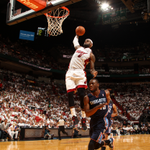 RT @BleacherReport: LeBron James scores 32 points as the Heat beat the Bobcats 101-97 to take a 2-0 series http://t.co/ad6JPSOt2D