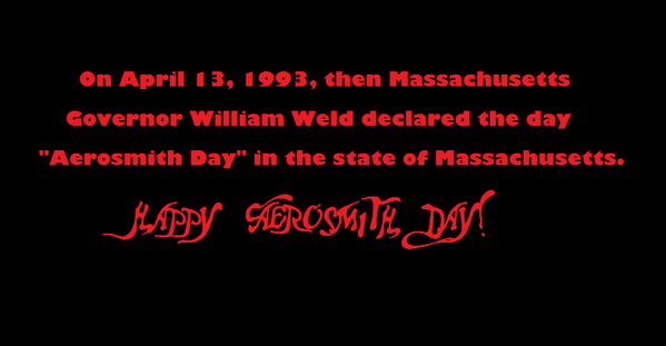 Happy Aerosmith Day. @IamStevenT @THaerosmith @joeykramer @JoePerry #BradWhitford  Busting out the Aerotunes all day. http://t.co/V5XOWg80YL