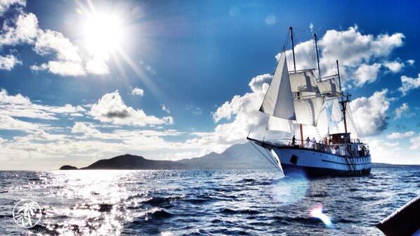 An island girl leaving #Nevis. @IslandJammers #caribbean #sailing http://t.co/K3yofvydUq