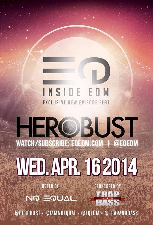 TOMORROW: @heRobust JOINS THE SHOW ON @EQEDM! Find out why respect matters among DJs & how he got it. W/ @TrapAndBass http://t.co/IlflxJ7ZQ8