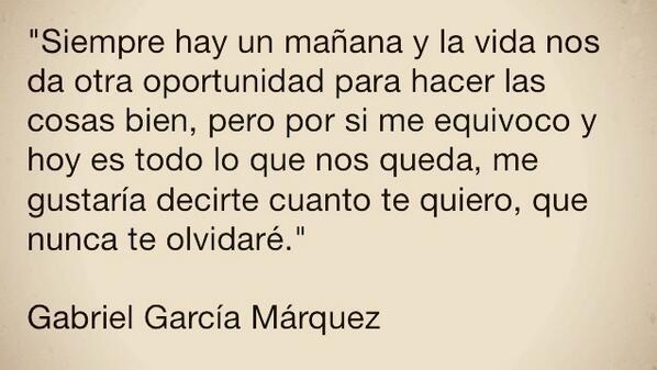 DEP Descanse en paz el genio, mi corazón llora .... #GabrielGarciaMarquez http://t.co/NkaenprKTa