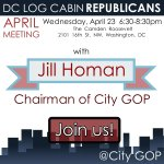 TONIGHT: Join our Chairman @jillhoman and @GOPs @Raffiwilliams at @DCLogCabin! #tcot #dc https://t.co/XHrzuriVwo http://t.co/a6eC28isM6
