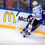 RT @Zackattack8721: Dat hit by Brent SEABROOK! Damn. GO HAWKS! #BecauseItsTheCup #HawksTalk #BlackhawksBlues #Blackhawks http://t.co/CDie53wkqL