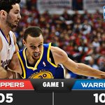 RT @warriors: FINAL: #Warriors 109 - @LAClippers 105 | Game Recap: http://t.co/tynV5mgd6N #Warriors lead series 1-0. #BeatLA http://t.co/Y3vBuoJaiz