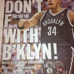 We deserved it. Now lets win. MT @richarddeitsch: NY Daily News is on its tabloid game today with the Nets-Raptors: http://t.co/PpMVFt35rs