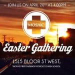 Here are the details for our Easter gathering #toronto looking for a fresh perspective on life and God? Join us! http://t.co/OPgAX3jnLd