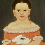 "Sturtevant J. Hamblin, ""Little Girl with Pet Rabbit,"" c. 1845, oil on paper on panel #Easter http://t.co/hN6qtF7NaE"